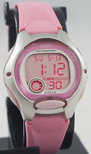 Casio Ladies Pink Digital Sports Watch with LED Light LW-200-4BV Brand New