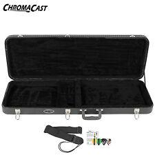 ChromaCast Electric Guitar Hard Case CC-EHC Bundle w Guitar Strap & Pick Sampler