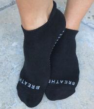 Barre Pilates Yoga Grip Socks BREATHE  Black  Womens  One Size Medium no-slip /