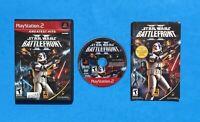 STAR WARS: BATTLEFRONT II 2 Playstation 2 PS2 COMPLETE Game Disc Case Manual