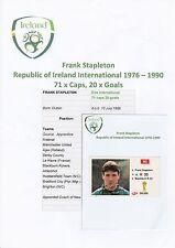 FRANK STAPLETON EIRE INTERNATIONAL 1976-1990 ORIGINAL HAND SIGNED MERLIN STICKER