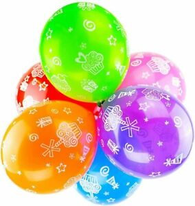 """10x 12"""" Multicoloured Latex Cupcake Balloons Colourful Muffin Party Decorations"""