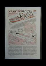 Iceland WWII Destroyer Bobsled 1942 How-To build PLANS