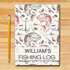 Personalizzato a5 Pesca LOG BOOK/DIARIO, GIORNALE DI PESCA, PESCATORI log book (B)