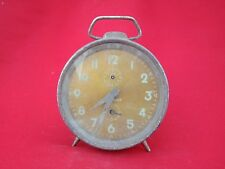 VINTAGE OLD REPEAT ALARM GOLDEN DIAL CLOCK- VIKRANT BRAND INDIA