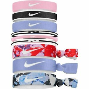 Nike Girls Youth Printed Mixed Ponytail 9-Pack Holders Brand New N0003171972OS