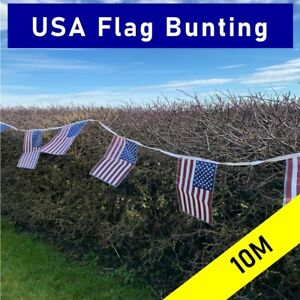 Large USA FLAG bunting - 10M - American Party Decroation