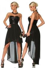 SPARKLE GLITTER CHIFFON STRAPLESS SEXY DRESS BLACK SIZE 10/12 SMALL MEDIUM