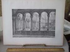 Vintage Print,CLOISTER OF ST JOHN LATERAN,Rome,Francis Wey,1872