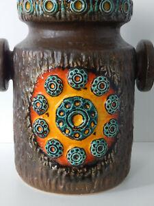Vintage D&B Fat Lava Ceramic Saturn Vase West German Large
