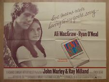 LOVE STORY (1970) - original UK quad film/movie poster, Ali MacGraw, Ryan O'Neal