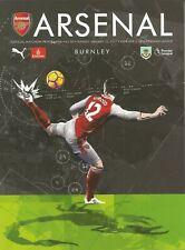 Football Programme - Arsenal v Burnley - Premiership - 22/1/2017