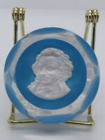 Vintage 1976 Baccarat Thomas Paine Crystal Sulphide Paperweight Limited Edition