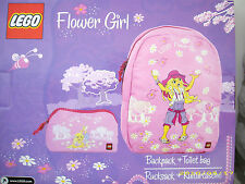 Lego Mädchen Rucksack und Kulturtasche im Set . NEU , OVP