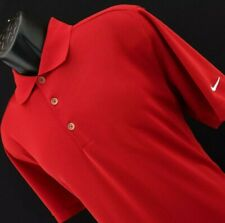 Mens Nike Golf Dri Fit Red Performance Athletic Golf Polo Shirt Size Large Sport