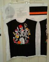 Cranston Dr Bones Halloween Shirt Costume Panel Glow in the Dark Childs 4-12 UC