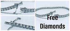 PULSERA TENIS oro blanco 18 ct diamantes naturales 1,70 ct 18 cm Bautizo