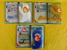 McDonald's 2000 Beanie Babies PEANUT, HUMPHREY, CHILLY - LEGENDS (3) NEW