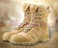 Military Combat Ankle Boots Mens Army Tactical Lace Up Desert Leather Shoes Chic