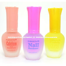 3 Kleancolor Nail Polish Calcium Hardener Cuticle Oil Treatment Lacquer 3SET27