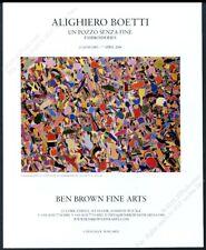 2006 Alighiero Boetti art London gallery vintage print ad