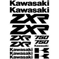 Kawasaki zxr 750 Decal Stickers Motorcycle Bike Replacement Refresh Kit Set