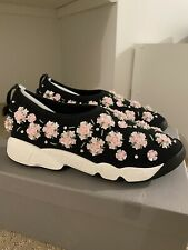 Christian Dior Fusion Sneakers With Floral Embroidery 36.5