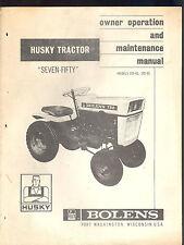 heavy equipment manuals & books for bolens tractor ebay bolens tractor parts sites 1966 bolens husky tractor model 750 owners operators & maintenance manual