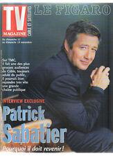 FIGARO TV 11/11/2000 patrick sabatier monica bellucci