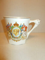 Vintage Crown Ducal Commemorative Mug Crowned George VI Queen Elizabeth May 1937