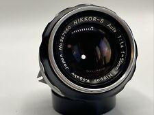 Nikon Nikkor S Auto 50mm f/1.4 pre-ai-RAR-ottimo stato #367960-49