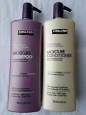 Kirkland Signature Shampoo & Conditioner Moisture 33.8 fl oz ea Paraben Free 1Lt