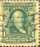 Vintage Scott #300 US 1903 1 Cent Ben Franklin Postage Stamp