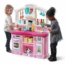 Kitchen Play Set Toy Food Cooking Toddler Pretend Toys Playset Gifts Kids Pink