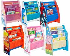 Choose from NEW Childrens Boys & Girls Character Sling Bookcase, Peppa, Minnie