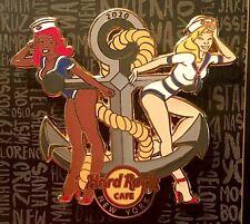 2020 HARD ROCK CAFE NEW YORK FLEET WEEK SEXY SAILOR GIRLS & ANCHOR LE PIN