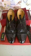 Nueva Epoca - Men's Tango/Salsa Dance Shoes - Patent crocodile Black/Suede black