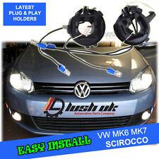 *2x H7 VW GOLF MK6 MK7 SCIROCCO HID HEADLIGHT KIT BULB HOLDERS ADAPTORS 2pc