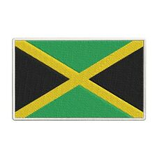 JAMAICA FLAG EMBROIDERED PATCH KINGSTON JAMAICAN RASTA iron-on APPLIQUE new