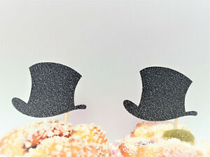 Top Hat Cupcake Toppers, Little Man Party, Snowman Party, Mr Wonderful Party