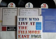 LP THE WHO LIVE AT THE FILLMORE EAST 1968 (3LP) Polydor‎ 6744480 - STILL SEALED