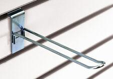 25 Pc New Retails Zinc Finish Slatwall Loop Hooks 8 Inch Long
