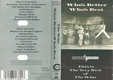 Who Who's Better Who's Best CASSETTE ALBUM Polydor WTVC 1 Classic Rock compilat