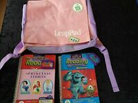 LeapFrog Back Pack -Pink Purple 2x  learning things todo / maths writing 4-8 yrs