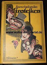 A.Awertschenko Grotesken 1914 Einband M. Schwarzer Georg Müller Archivbibliothek