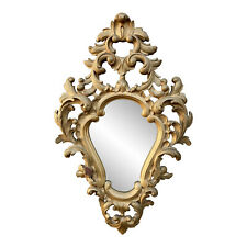 Antique French Rococo Heavily Carved Giltwood Walnut Mirror 2x2