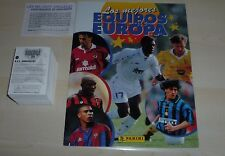 Panini Les mejores equipos de EUROPA 1996/7 loose 310 Autocollant Set + EMPTY ALBUM