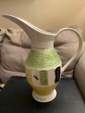 Beer Ceramic Pitcher With Horses - Italian And Irish Flags the biggest one Rare
