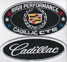 CADILLAC CTS SEW/IRON ON PATCH EMBLEM BADGE EMBROIDERED CTS SEVILLE ELDORADO