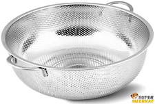 Strainer Basket Stainless Steel Mesh Colander Kitchen Food Pasta Vegetable Drain
